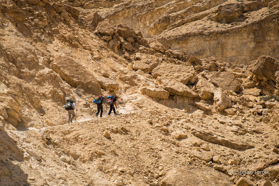 Wanderer auf dem Israel National Trail