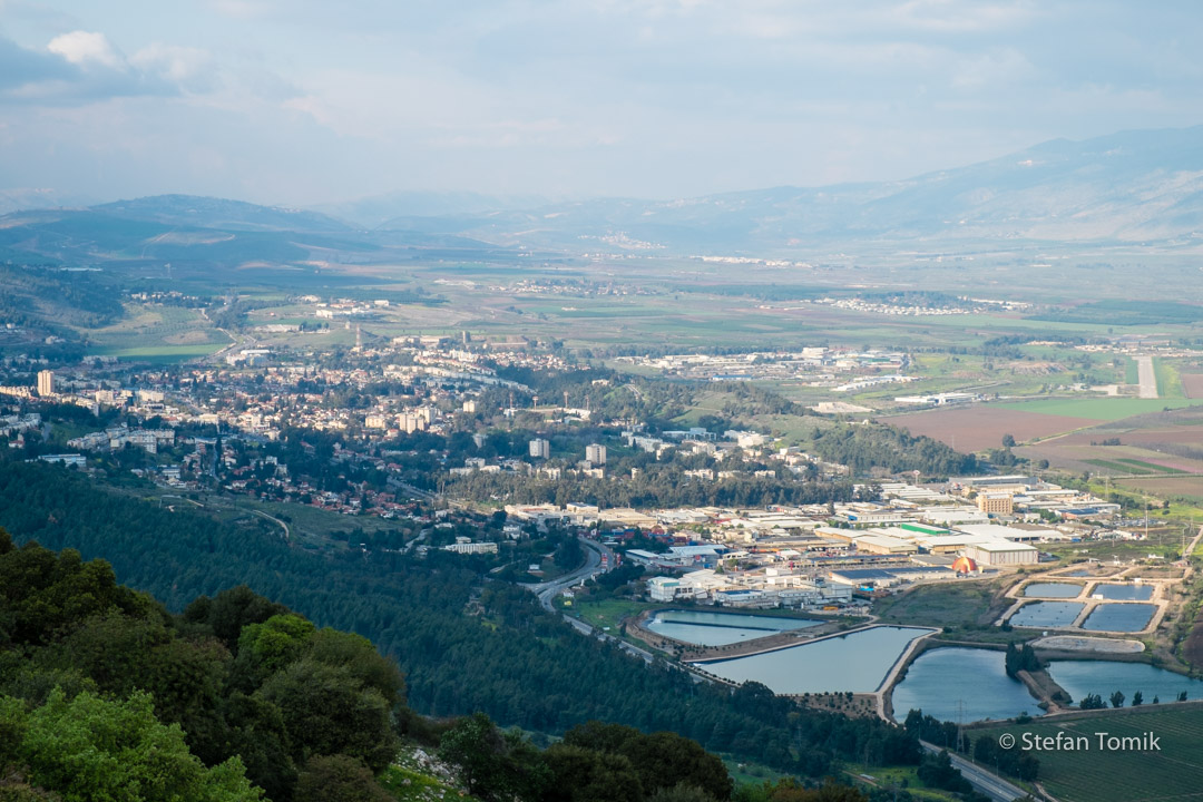 Blick ins Hula Valley auf dem Israel National Trail