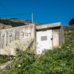 Bunker in Kiryat Shemona auf dem Israel National Trail